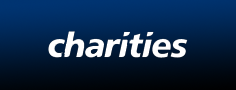 Charities written in bold white text on black background