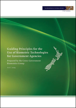 Cover image for Guiding Principles for the Use of Biometric Technologies
