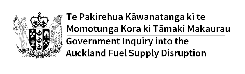 Te Pakirehua Kāwanatanga ki te Momotunga Kora ki Tāmaki Makaurau - Government Inquiry into the Auckland Fuel Supply Disruption