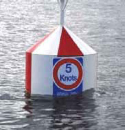 Buoy floating in water