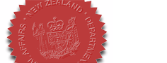 The official seal applied to certified documents