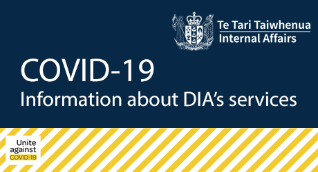 COVID-19:Information about DIA's services