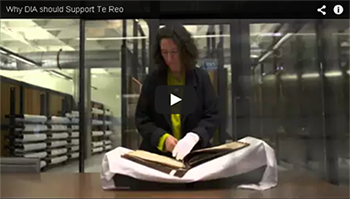 Thumbnail image of 'Why DIA should support Te Reo' video on YouTube