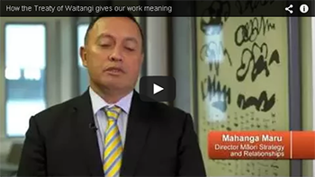 Thumbnail image for the 'How the Treaty of Waitangi gives our work meaning' video on YouTube